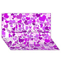 Heart 2014 0929 Merry Xmas 3d Greeting Card (8x4)