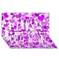 Heart 2014 0929 Laugh Live Love 3d Greeting Card (8x4)  by JAMFoto