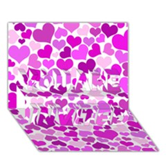Heart 2014 0930 You Are Invited 3d Greeting Card (7x5)  by JAMFoto