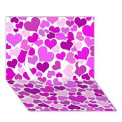 Heart 2014 0930 Circle 3d Greeting Card (7x5)
