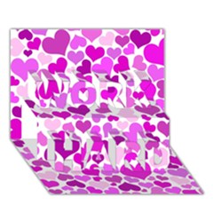 Heart 2014 0930 Work Hard 3d Greeting Card (7x5)  by JAMFoto