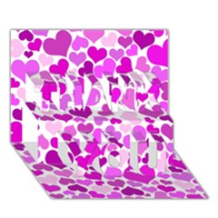 Heart 2014 0930 Thank You 3d Greeting Card (7x5)  by JAMFoto