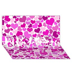 Heart 2014 0931 Engaged 3d Greeting Card (8x4)