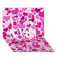 Heart 2014 0932 Love 3d Greeting Card (7x5)  by JAMFoto