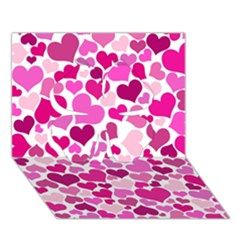Heart 2014 0932 Clover 3d Greeting Card (7x5)  by JAMFoto