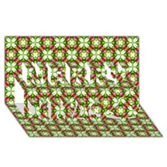 Cute Pattern Gifts Merry Xmas 3d Greeting Card (8x4)  by creativemom
