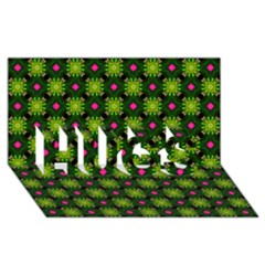 Cute Pattern Gifts Hugs 3d Greeting Card (8x4)