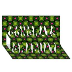 Cute Pattern Gifts Congrats Graduate 3d Greeting Card (8x4)