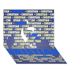 Christian Ribbon 3d Greeting Card (7x5)