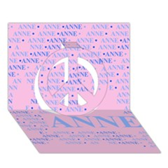 Anne Peace Sign 3d Greeting Card (7x5)