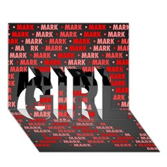 Mark Girl 3d Greeting Card (7x5)