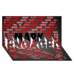 Mark Engaged 3d Greeting Card (8x4)  by MoreColorsinLife