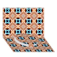 Cute Pattern Gifts Circle Bottom 3d Greeting Card (7x5)