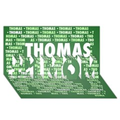 Thomas #1 Mom 3d Greeting Cards (8x4)
