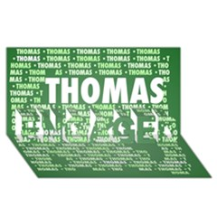 Thomas Engaged 3d Greeting Card (8x4)