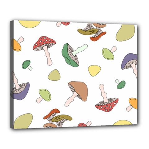 Mushrooms Pattern 02 Canvas 20  X 16  by Famous
