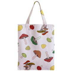 Mushrooms Pattern 02 Zipper Classic Tote Bags by Famous