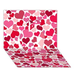 Heart 2014 0934 Apple 3d Greeting Card (7x5)