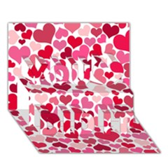 Heart 2014 0934 You Did It 3d Greeting Card (7x5) by JAMFoto