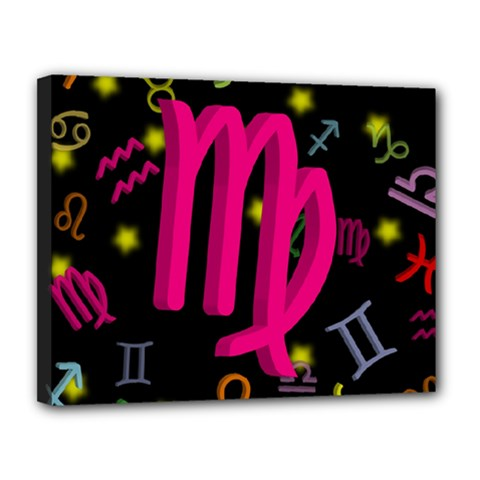 Virgo Floating Zodiac Sign Canvas 14  X 11  by theimagezone