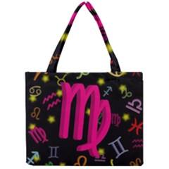 Virgo Floating Zodiac Sign Tiny Tote Bags by theimagezone