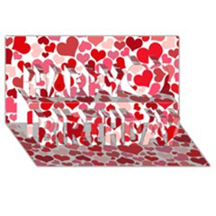 Heart 2014 0935 Happy Birthday 3d Greeting Card (8x4)  by JAMFoto