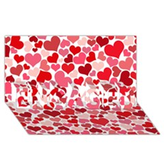 Heart 2014 0935 Engaged 3d Greeting Card (8x4)