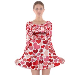 Heart 2014 0935 Long Sleeve Skater Dress
