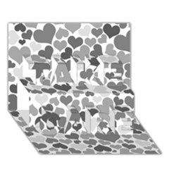 Heart 2014 0936 Take Care 3d Greeting Card (7x5)