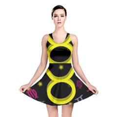 Taurus Floating Zodiac Sign Reversible Skater Dresses by theimagezone