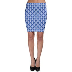Awesome Retro Pattern Blue Bodycon Skirts by ImpressiveMoments
