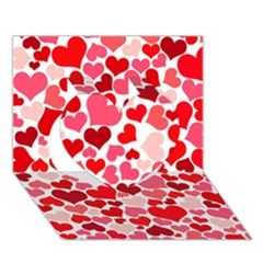 Heart 2014 0937 Heart 3d Greeting Card (7x5)  by JAMFoto