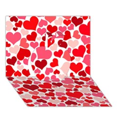 Heart 2014 0937 Apple 3d Greeting Card (7x5)  by JAMFoto