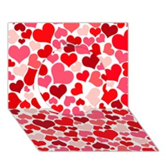 Heart 2014 0937 Circle 3d Greeting Card (7x5)