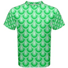 Awesome Retro Pattern Green Men s Cotton Tees by ImpressiveMoments