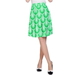 Awesome Retro Pattern Green A Line Skirts by ImpressiveMoments