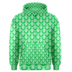Awesome Retro Pattern Green Men s Zipper Hoodies by ImpressiveMoments