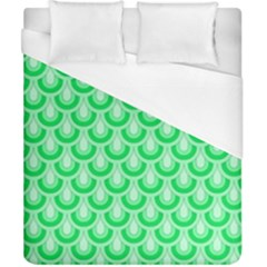 Awesome Retro Pattern Green Duvet Cover Single Side (double Size) by ImpressiveMoments