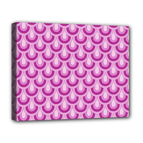 Awesome Retro Pattern Lilac Deluxe Canvas 20  X 16   by ImpressiveMoments