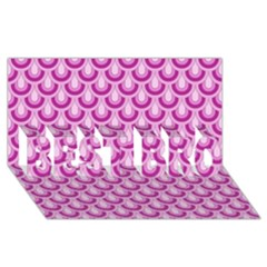Awesome Retro Pattern Lilac Best Bro 3d Greeting Card (8x4)