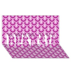 Awesome Retro Pattern Lilac Best Sis 3d Greeting Card (8x4)  by ImpressiveMoments