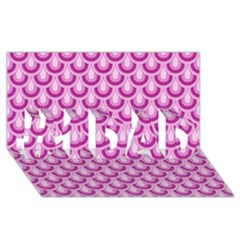 Awesome Retro Pattern Lilac #1 Dad 3d Greeting Card (8x4)