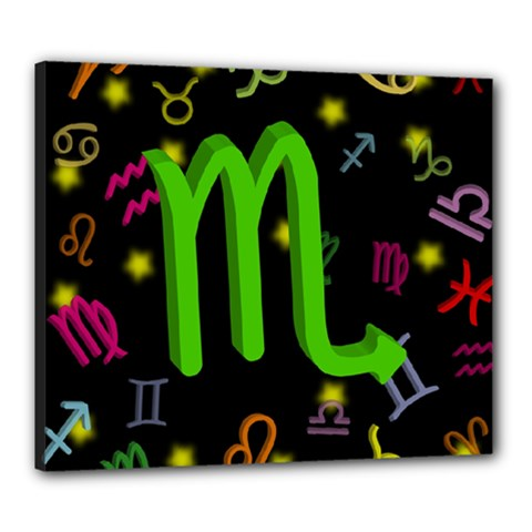 Scorpio Floating Zodiac Sign Canvas 24  X 20  by theimagezone
