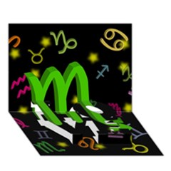 Scorpio Floating Zodiac Sign Love Bottom 3d Greeting Card (7x5)  by theimagezone