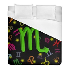 Scorpio Floating Zodiac Sign Duvet Cover Single Side (twin Size) by theimagezone