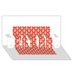 Awesome Retro Pattern Red Best Bro 3d Greeting Card (8x4)  by ImpressiveMoments