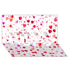 Heart 2014 0601 Hugs 3d Greeting Card (8x4)  by JAMFoto