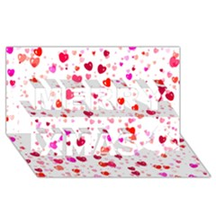 Heart 2014 0601 Merry Xmas 3d Greeting Card (8x4)  by JAMFoto