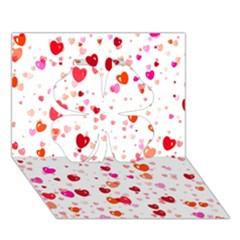 Heart 2014 0602 Clover 3d Greeting Card (7x5)  by JAMFoto