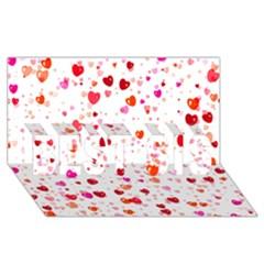 Heart 2014 0602 Best Sis 3d Greeting Card (8x4)